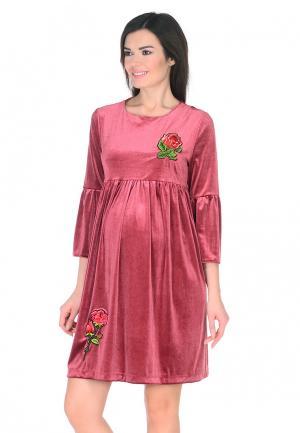 Платье Мама Мила. Цвет: розовый