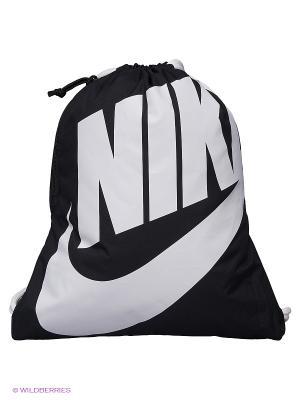 Рюкзак NIKE HERITAGE GYMSACK. Цвет: черный, антрацитовый, белый