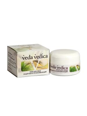 Крем для лица защитный и успокаивающий Veda Vedica. Цвет: молочный