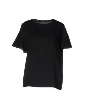 Блузка NINEMINUTES. Цвет: черный