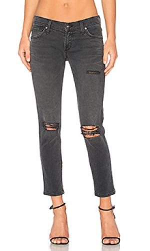 Джинсы бойфренд с молниями внизу dylan James Jeans. Цвет: none