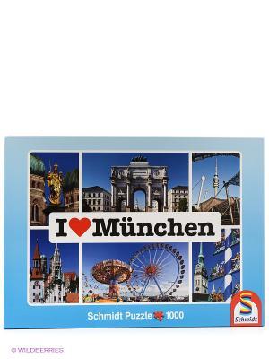 Пазл  Я люблю Мюнхен Schmidt. Цвет: синий, голубой