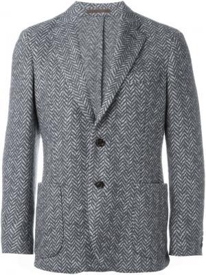 Блейзер с накладными карманами Eleventy. Цвет: серый