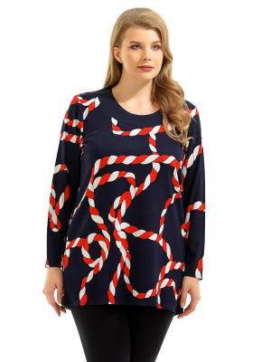Блузка Pretty Woman. Цвет: темно-синий, белый, красный