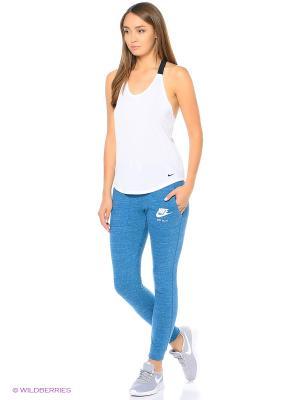 Брюки W NSW GYM VNTG PANT Nike. Цвет: синий, голубой