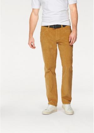 Вельветовые брюки Arizona. Цвет: оранжево-красный, темно-синий, хаки, цвет карри
