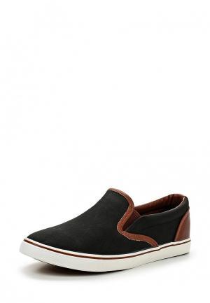 Слипоны Ideal Shoes. Цвет: черный