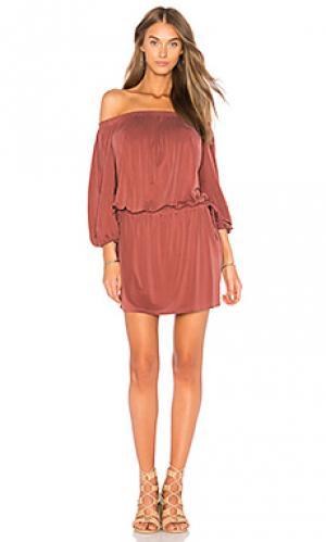 Платье aletta YFB CLOTHING. Цвет: ржавый