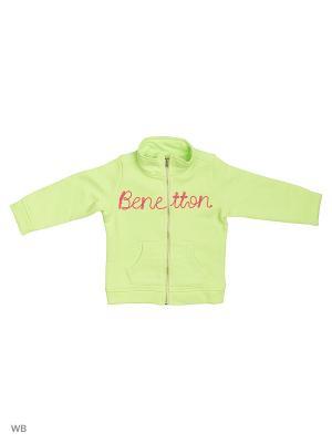 Толстовка United Colors of Benetton. Цвет: салатовый