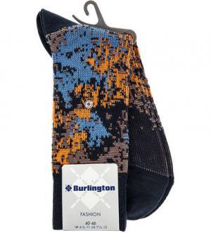 Синие хлопковые носки Burlington. Цвет: синий