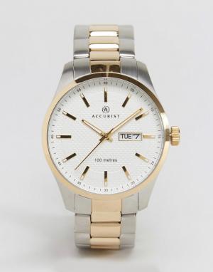 Accurist Наручные часы из смешанных металлов с белым циферблатом. Цвет: золотой