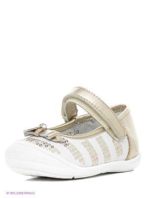 Туфли Vitacci. Цвет: белый, золотистый