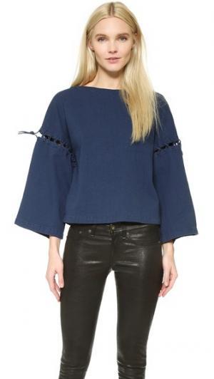 Рубашка Petrina Rodebjer. Цвет: полоски цвета индиго