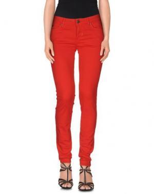 Джинсовые брюки MELTIN POT. Цвет: красный