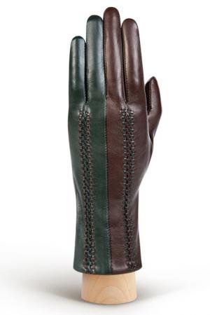 Перчатки Eleganzza. Цвет: темно-коричневый, зеленый