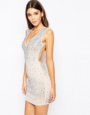 Wow Couture Платье со стразами. Цвет: розовый