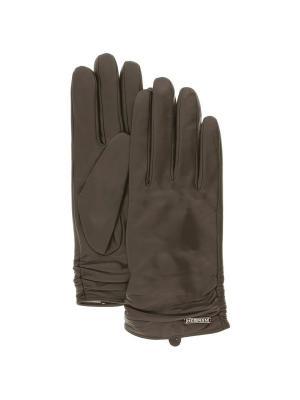 Перчатки HERMAN. Цвет: коричневый