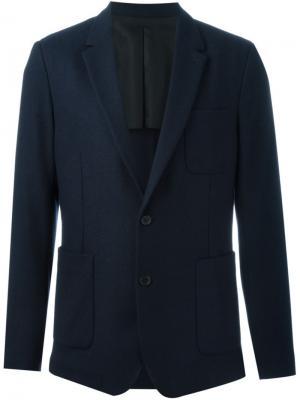 Пиджак с накладными карманами Ami Alexandre Mattiussi. Цвет: синий