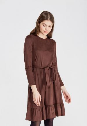 Платье Shelter. Цвет: коричневый