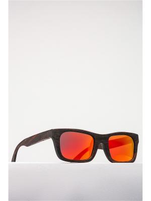 Солнцезащитные очки Nothing but Love. Цвет: коричневый, оранжевый