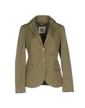 Пиджак MALÌPARMI. Цвет: зеленый-милитари