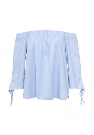 Блуза Alcott. Цвет: голубой
