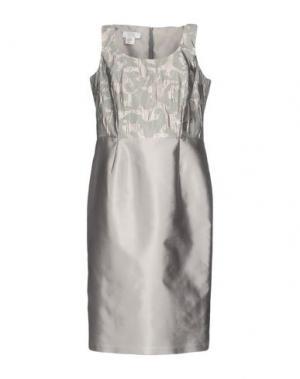 Платье до колена CAILAN'D. Цвет: голубиный серый