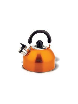 Чайник 2,5л со свистком, бакелит, ручка Green Top. Цвет: оранжевый