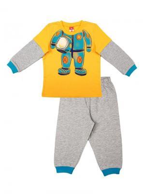 Пижама для мальчика Cherubino. Цвет: желтый
