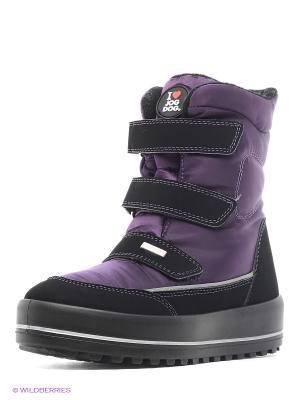 Полусапожки Jog Dog. Цвет: фиолетовый