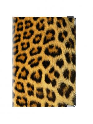 Обложка на паспорт Леопардовая Tina Bolotina. Цвет: черный, оранжевый, желтый