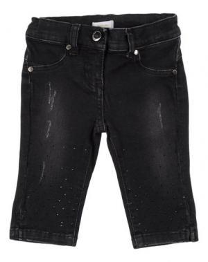 Джинсовые брюки MICROBE. Цвет: черный