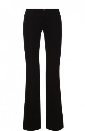 Укороченные расклешенные джинсы из вельвета J Brand. Цвет: черный