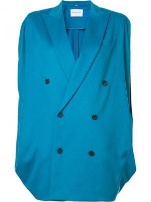 Двубортное пальто Vionnet. Цвет: синий