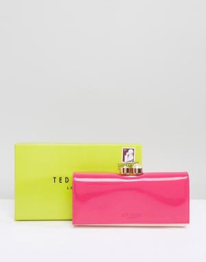 Ted Baker Лакированный кошелек. Цвет: розовый