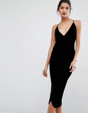 Bec & Bridge Платье миди Midnight Sage. Цвет: черный