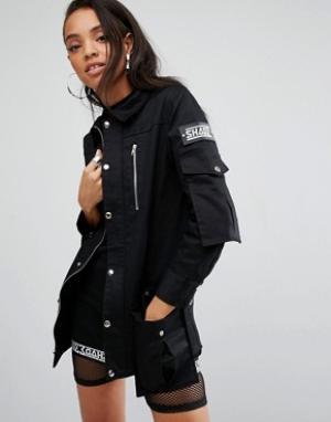 SHADE London Спортивная куртка. Цвет: черный
