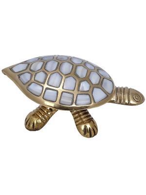 Шкатулка Черепаха ETHNIC CHIC. Цвет: золотистый, белый