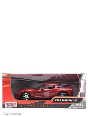 Машинка коллекционная 2005 Corvette C6 Motormax. Цвет: красный