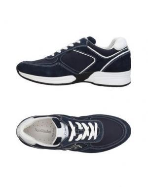 Низкие кеды и кроссовки NERO GIARDINI. Цвет: темно-синий