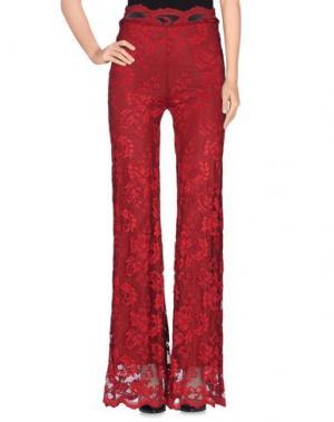 Повседневные брюки OLVI'S. Цвет: кирпично-красный