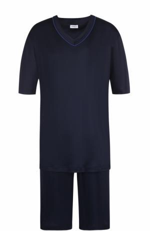 Пижама с шортами Zimmerli. Цвет: темно-синий