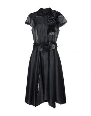Платье до колена MARIAGRAZIA PANIZZI. Цвет: синий