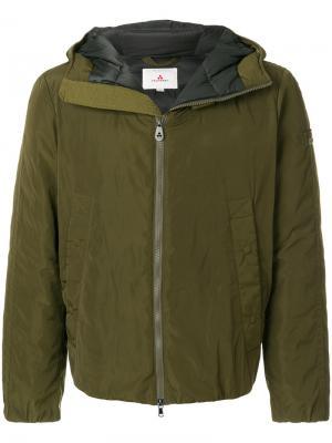 Дутая куртка с капюшоном Peuterey. Цвет: зелёный