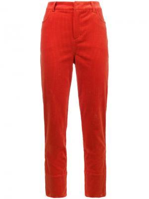 Вельветовые брюки Ridgewood Ganni. Цвет: красный