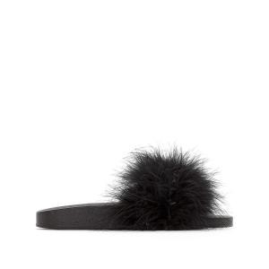 Туфли без задника из искусственного меха, Makiki COOLWAY. Цвет: розовый
