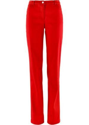Прямые брюки стретч, низкий рост K (клубничный) bonprix. Цвет: клубничный