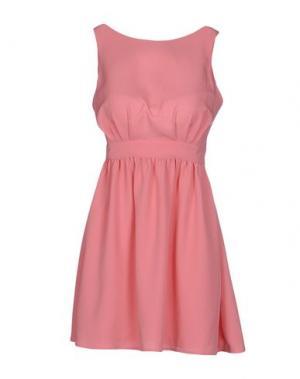 Короткое платье PINK BOW. Цвет: розовый
