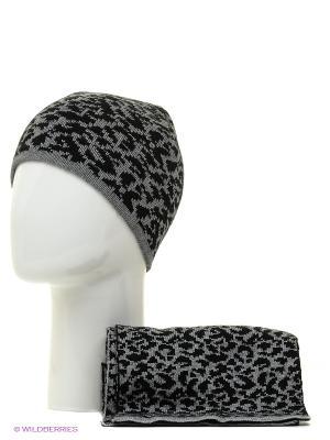 Шапка + шарф Marhatter. Цвет: черный, серый