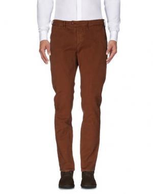 Повседневные брюки OAKS. Цвет: коричневый